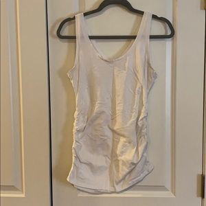 White maternity tank top